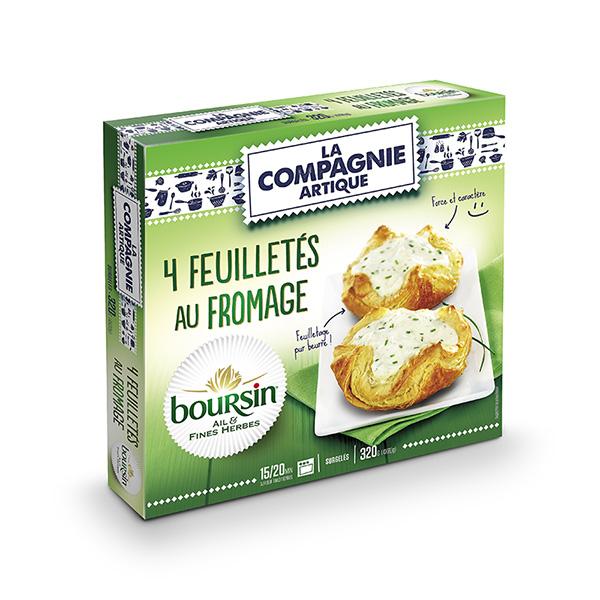 Feuilletés au fromage Boursin ail et fines herbes