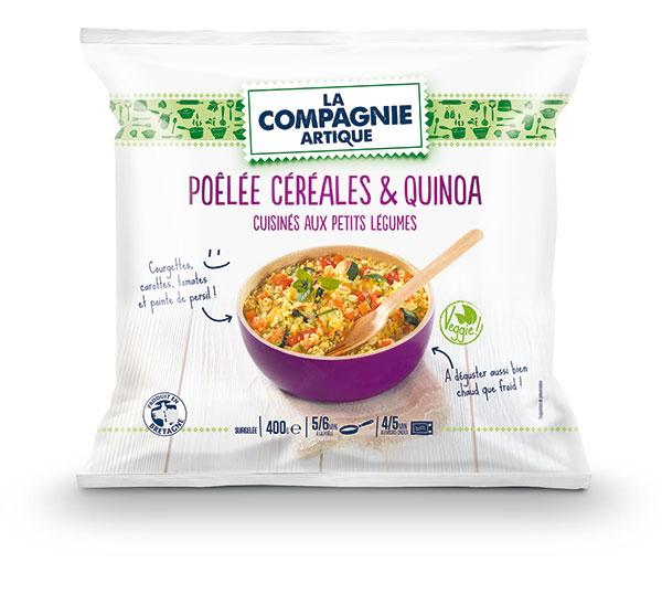 Pôlée de céréales et quinoas cuisinés aux petits légumes