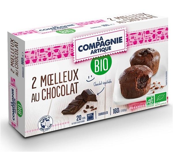 2 moelleux au chocolat BIO